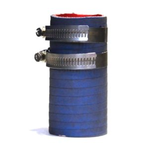 """1.25"""" flex hose connector with clamps"""