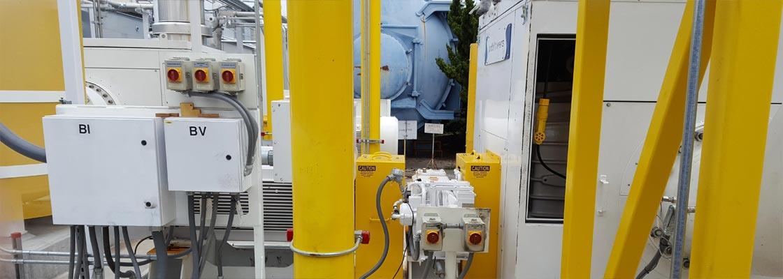 Multi stage vacuum system installation 4
