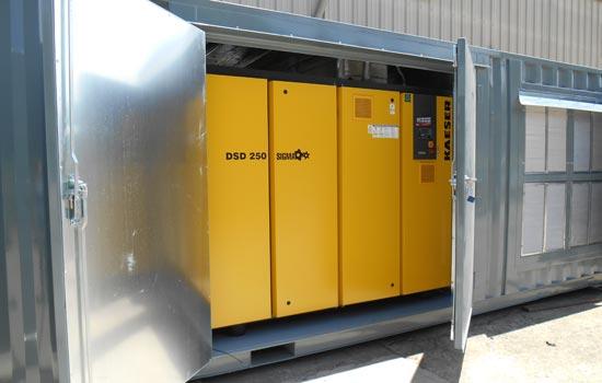 Air compressor system for Air sparging