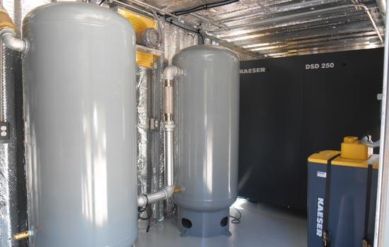 Air compressor system for Soil Remediation