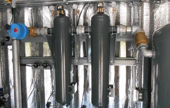 Custom Air compressor system installation