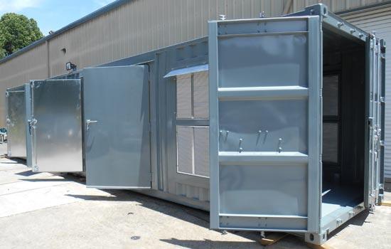 Custom container for Air compressor system