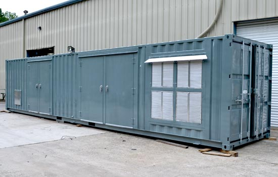 Custom container for air sparging system