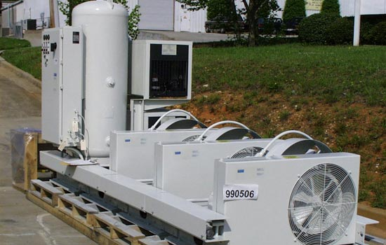 Custom air compressor system for hospital