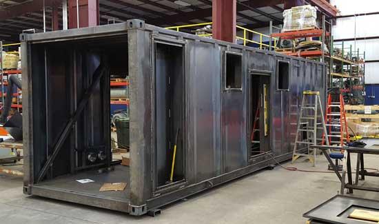 Custom equipment enclosure - step 3