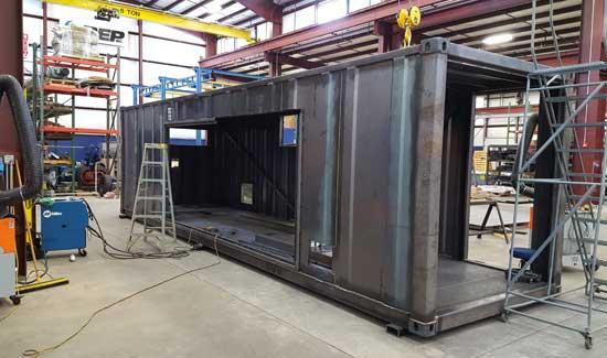 Custom equipment enclosure - step 4
