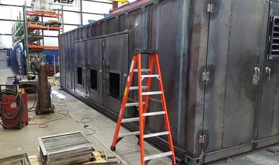 Custom equipment enclosure - step 8