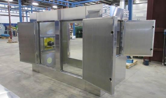 Custom welded aluminum equipment enclosure
