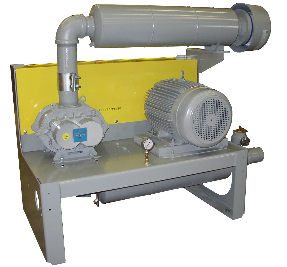 Positive Displacement Blower : Positive displacement blower and vacuum pump package heat