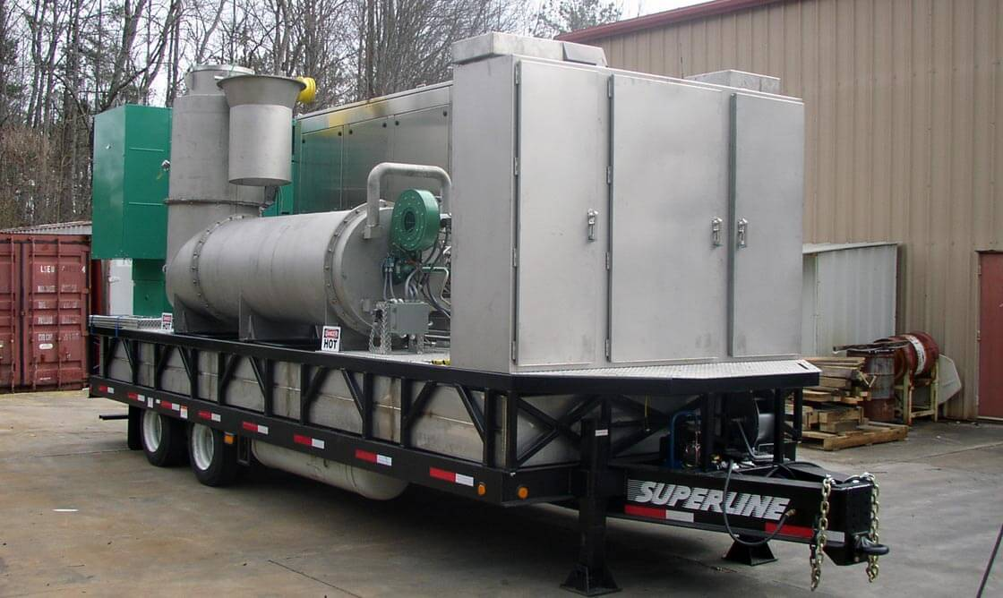 Thermal Oxidizer System mounted on trailer