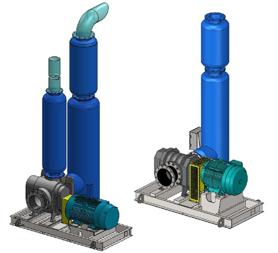 Direct drive vacuum packages