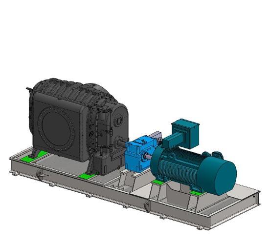 Gearbox drive vacuum package
