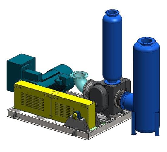 Jack-shaft drive vacuum system