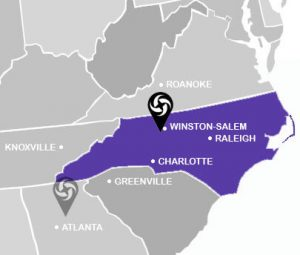 General map of NC location