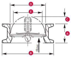 techno 5050-3 epdm check valve