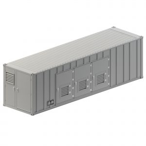 Custom Container Enclosure right side
