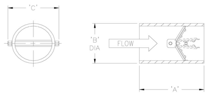 Valve dimension diagram