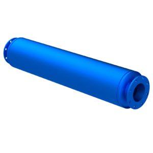 U5 flanged absorptive silencer ISO