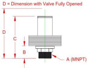 aluminum weighted relief valve diagram