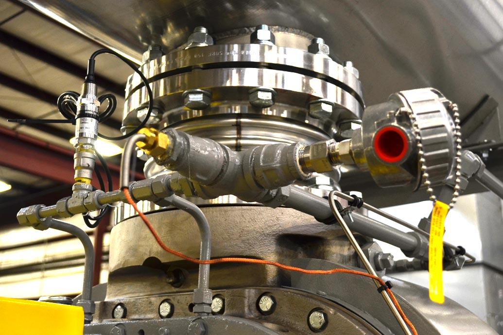 instrumentation on carbon capture blower package