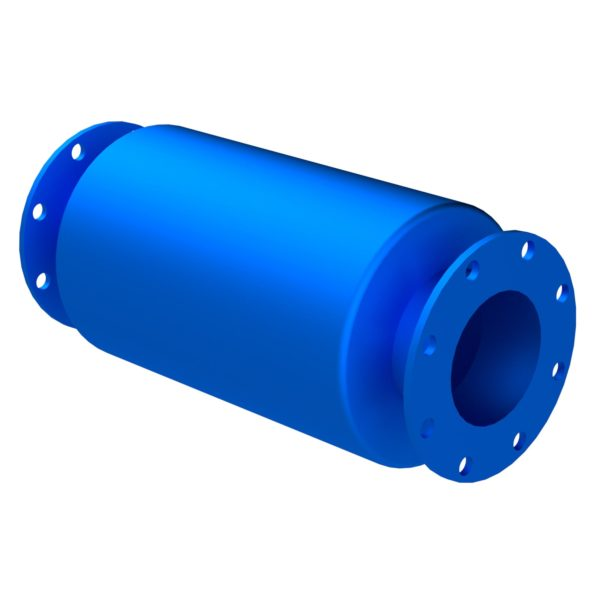 SU5 Flanged Absorptive Blower Silencer ISO