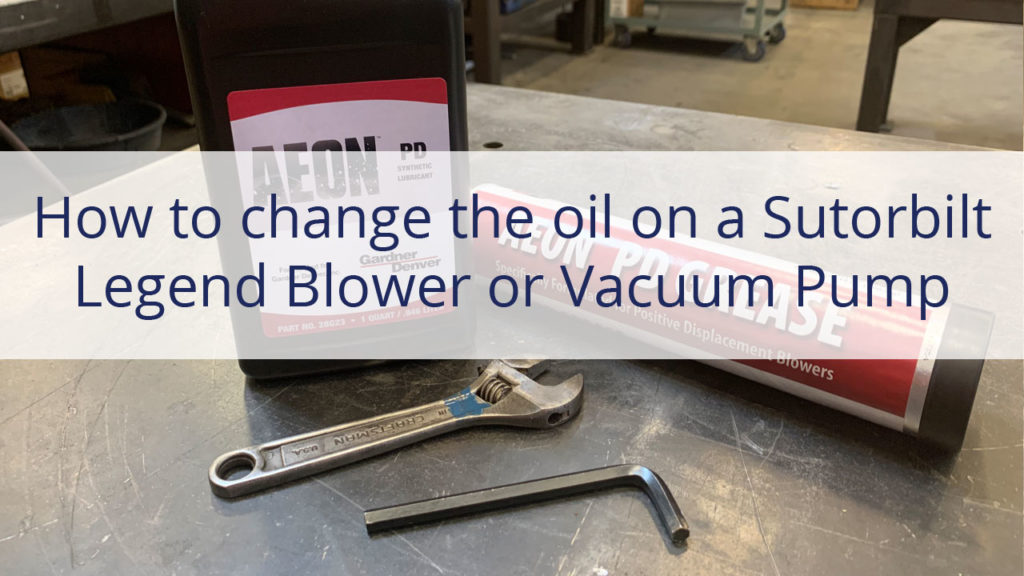 How to change the oil in a sutorbilt blower